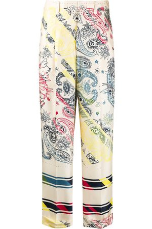 Golden Goose Paisley print straight leg trousers - NEUTRALS