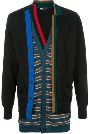 Kolor Men Cardigans - Knitted layered cardigan