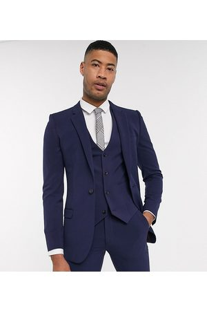 ASOS Tall super skinny suit jacket in four way stretch in navy