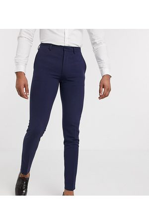 ASOS Tall super skinny suit pants in four way stretch in navy