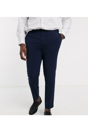 ASOS Plus super skinny suit pants in four way stretch in navy