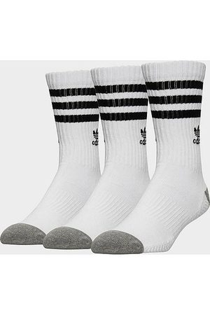 adidas Men's 3-Pack Roller Crew Socks in Size Large Cotton/Nylon/Polyester