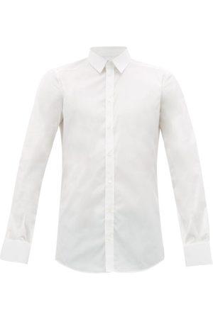 Dolce & Gabbana Men Shirts - Gold Fit Cotton-blend Poplin Shirt - Mens