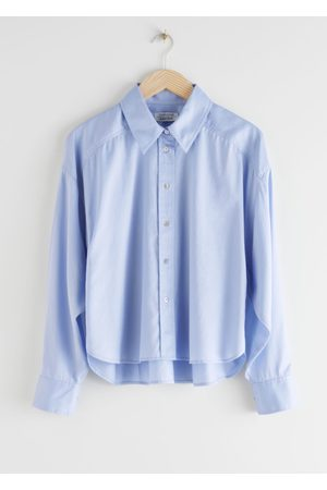 & OTHER STORIES Cropped Oversized Twill Shirt