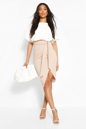 Boohoo Womens Colour Block Kimono Sleeve Midi Dress - - 4
