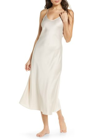 Rya Collection Women Nightdresses & Shirts - Women's Kiss Applique Back Long Satin Nightgown