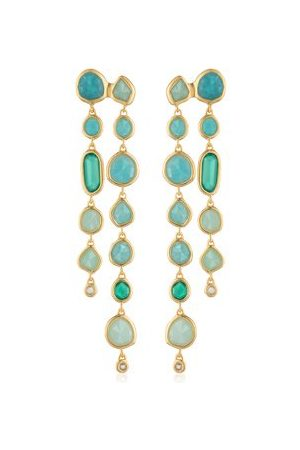 Monica Vinader Women Earrings - Gold Siren Tonal Cocktail Earrings Mix