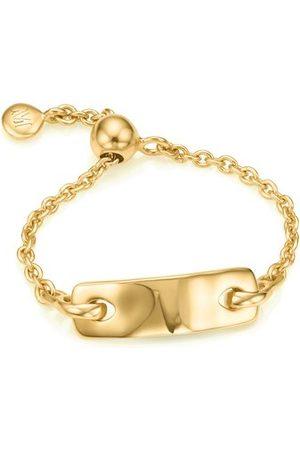 Monica Vinader Women Rings - Gold Havana Adjustable Friendship Ring