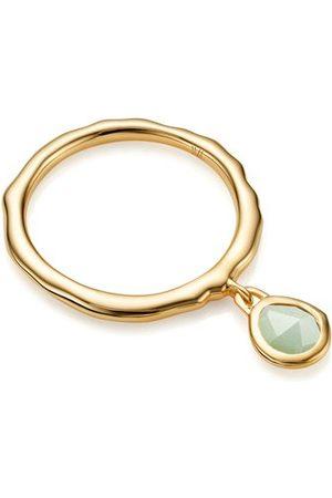 Monica Vinader Gold Siren Charm Ring Chrysoprase