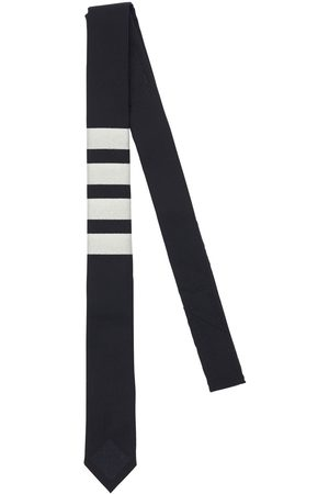 Thom Browne Plain Wool Weave Engineered 4 Bar Tie