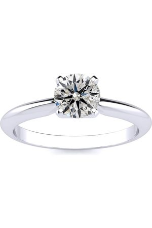 SuperJeweler 3/4 Carat Round Shape Diamond Solitaire Ring in 14k (F-G Color