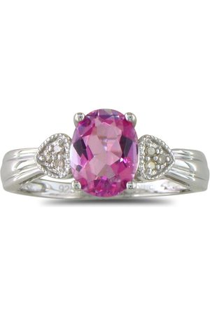 SuperJeweler Women Rings - 3/4 Carat Topaz & Diamond Ring in Sterling Silver