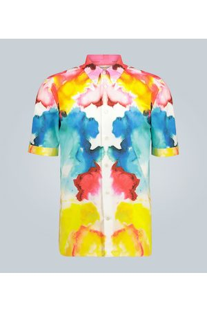 Alexander McQueen Ink splattered cotton shirt