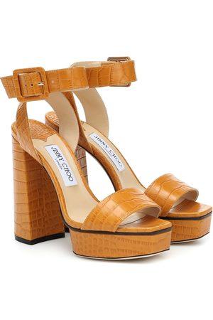 Jimmy Choo Jax 125 leather platform sandals