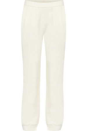 The Row Azila cotton and cashmere trackpants
