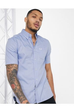 Fred Perry Short sleeve oxford shirt in blue-Blues