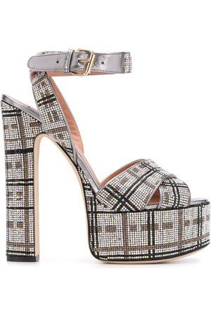 Marco De Vincenzo Women Sandals - Crystal-embellished platform sandals