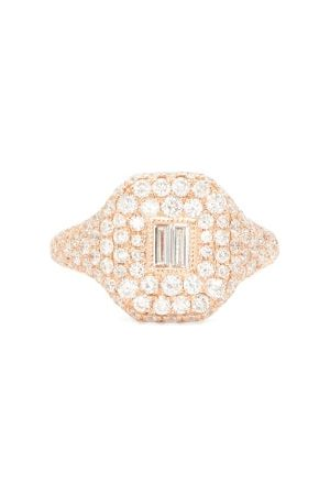 Shay Essential Diamond & 18kt Rose Ring - Womens - Rose