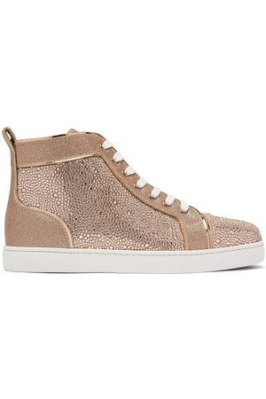 Christian Louboutin Louis Crystal-embellished High-top Suede Trainers - Womens