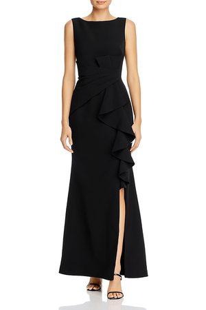 Eliza J Women Sleeveless Dresses - Sleeveless Cascading-Ruffle Gown