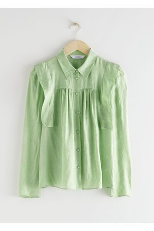 & OTHER STORIES Floral Jacquard Blouse