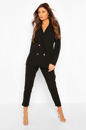 Boohoo Womens Double Breasted Blazer & Pants Suit Set - - 4