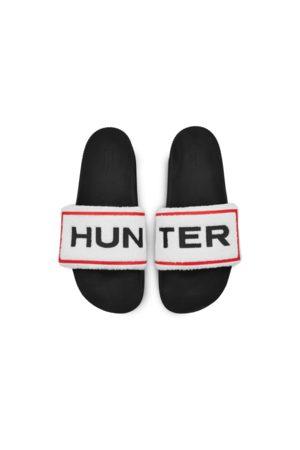 Hunter Men's Original Terry Towelling Logo Adjustable Slides
