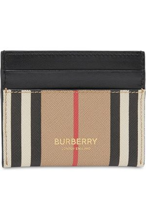 Burberry Sandon Icon Stripe Canvas Card Holder