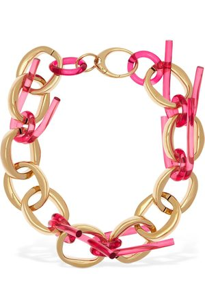 Colville Twisted Tube Hoop Necklace