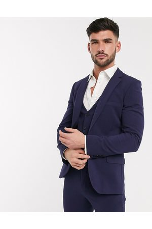 ASOS Super skinny suit jacket in four way stretch in navy