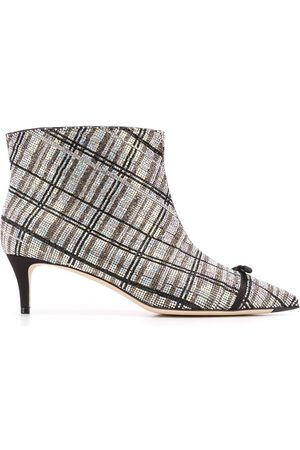 Marco De Vincenzo Women Boots - Rhinestone stripe boots