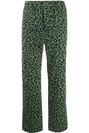Vyner Articles Leopard print straight-leg trousers