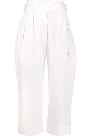 See by Chloé Women Cargo Pants - City straight-leg cargo trousers - Neutrals