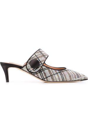 Marco De Vincenzo Women Mules - Rhinestone stripe mules