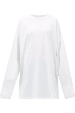 Raey Oversized Recycled-yarn Cotton-blend T-shirt - Womens
