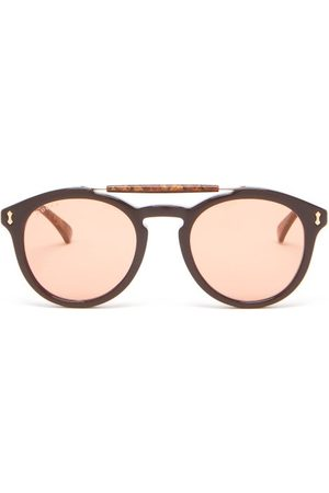 Gucci Round Aviator Acetate Sunglasses - Mens