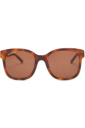 Balenciaga Monogram Tortoiseshell-acetate Square Sunglasses - Mens