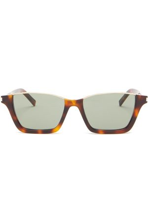 Saint Laurent Rectangular Tortoiseshell-acetate Sunglasses - Mens