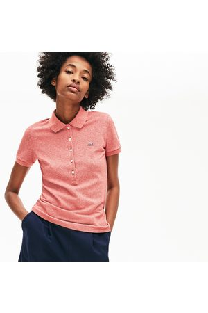 Lacoste Women's Slim Fit Stretch Mini Cotton Piqué Polo Shirt - 50