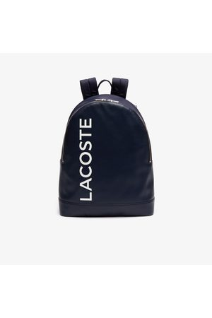 Lacoste Men's L.12.12 Signature Leather Zip Backpack :