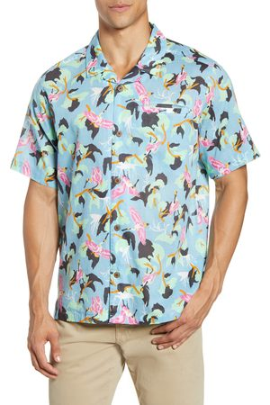 Patagonia Men's Lightweight A/c Regular Fit Print Cotton & Hemp Short Sleeve Shirt