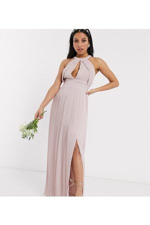 TFNC Bridesmaid exclusive pleated maxi dress in