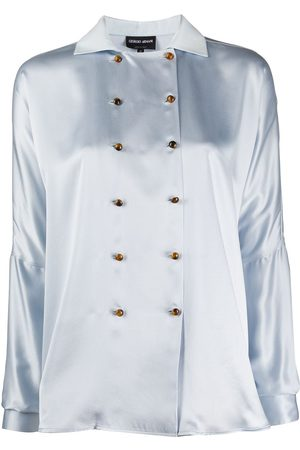 Armani Women Blouses - Double-breasted silk blouse
