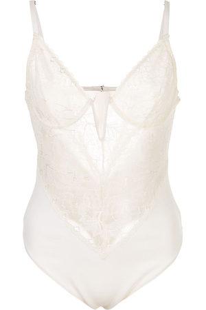 FLEUR DU MAL Gardenia lace bodysuit