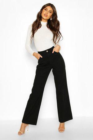 Boohoo Womens High Rise Wide Leg Jean - - 2