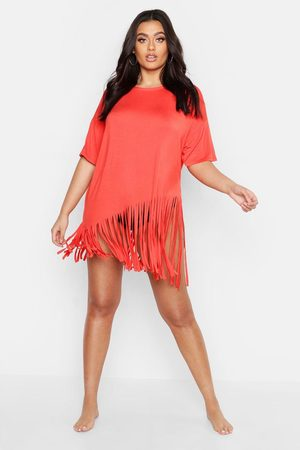 Boohoo Women Beach Dresses - Womens Plus Tassel Beach Dress - - 12