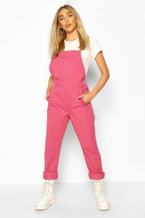Boohoo Womens Boyfriend Denim Overall - - 4