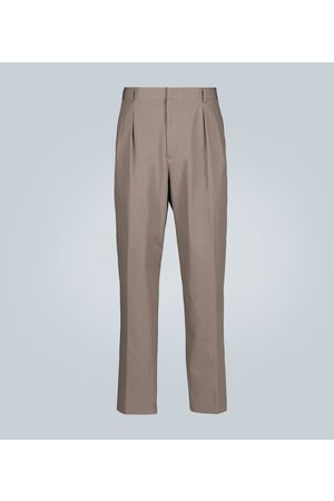 VALENTINO Cotton straight-leg pants