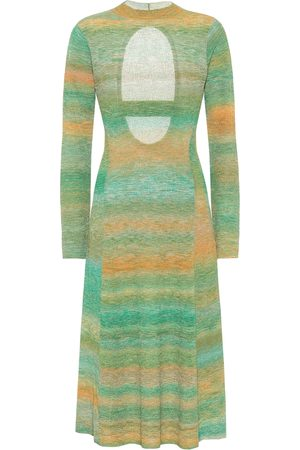 tibi Striped open-back sweater dress
