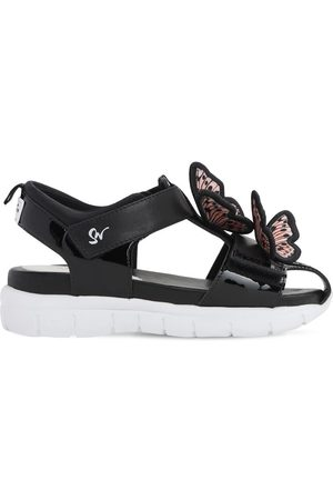 SOPHIA WEBSTER Patent Sandals W/ Appliqués